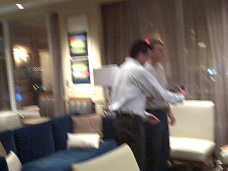 Rich Abronson of Gumiyo prepares for ADM Member Reception during 9th Digital Dealer Conference