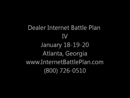 Dealer Internet Battle Plan IV