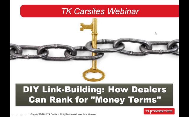 DIY Link Building: How Dealers Can Rank for Money Terms