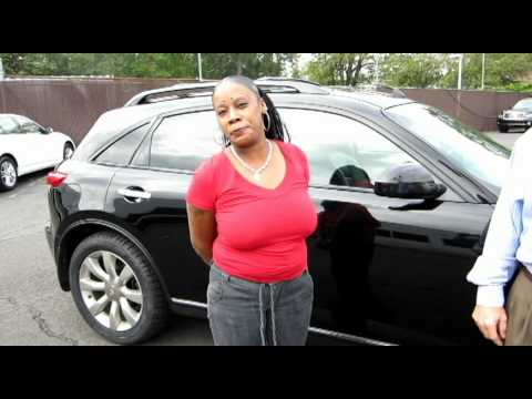 NJ Infiniti- Marjorie Celestine picks up FX45 at Douglas Infiniti Summit NJ - Testimonial