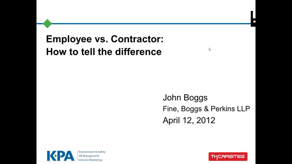 Employee vs. Independent Contractor: How to Tell the Difference