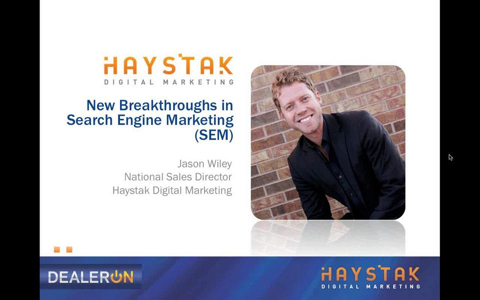 New Breakthroughs in Search Engine Marketing (SEM)