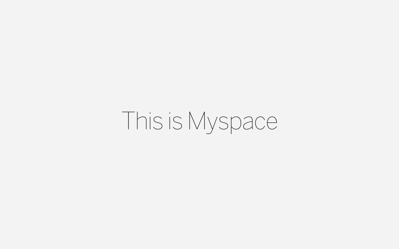 All New MySpace Under Specific Media Ownership