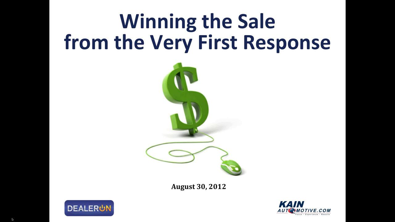 Winning the Sale from the Very First Response