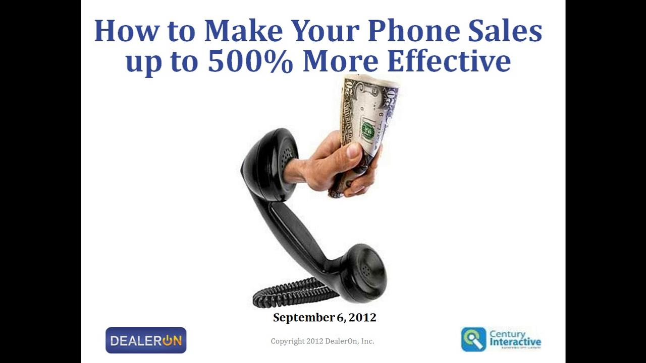 How to Make Your Phone Sales 500% More Effective