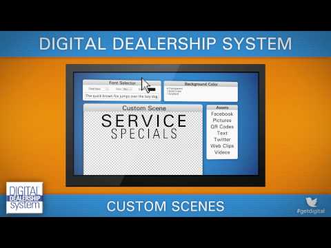 Custom Scenes for the Digital Dealership System