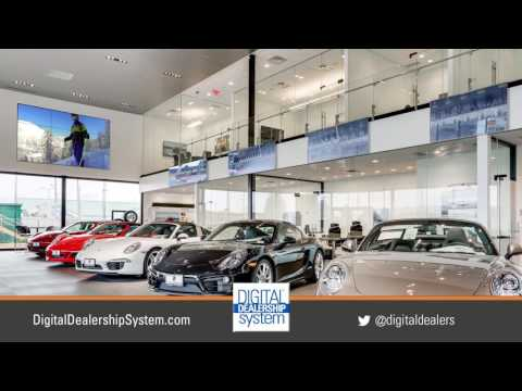 Porsche Showroom with Disconnected Video Wall and Standard Video Wall