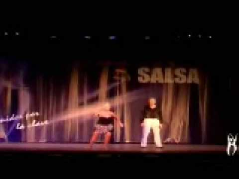 Older Lady Dominates Salsa Dancing Like No One Her Age!