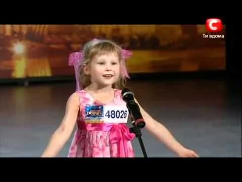 Девочка удивила всех на шоу талантов (Украина)