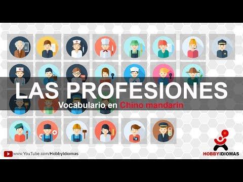 Las profesiones en chino mandarín - Vocabularios con imágenes