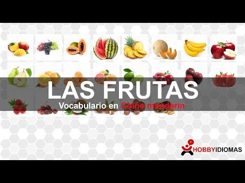 Vocabulario con imágenes: Las frutas en Chino mandarín