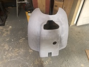 Custom fiberglass cowl for Viking Honda