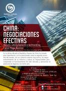Seminario  China: Negociaciones Efectivas / Mercados, cultura y legislación en la China de hoy (Medellín)