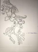 flowe of pencile sketch