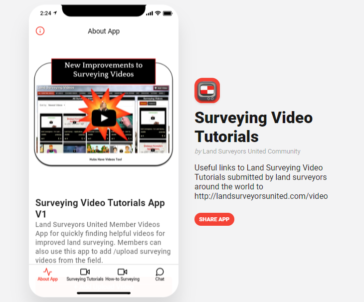 Land Surveying Videos App Helps Surveyors Learn on the Go