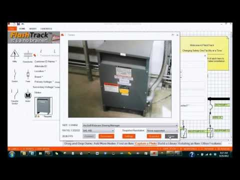 FlashTrack - Capture a Photo in Arc Flash Data Collection Software by FacilityResults.com (No Sound)