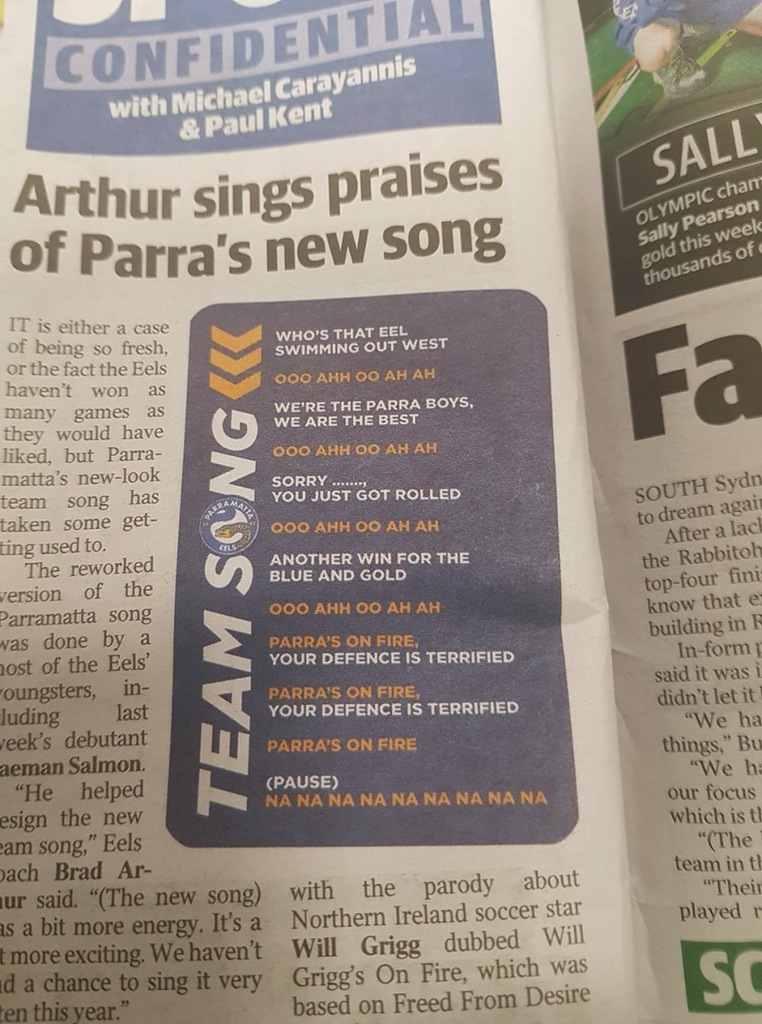 New Parra's Song Lyrics - This must be a Gee Up!!! - Eels