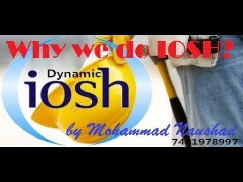 Why we do IOSH training- Difference between Nebosh & IOSH in Hindi