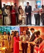 Sandeep Marwah Inaugurated Exhibition at Habitat Centre