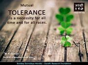 Thought For The Day ( TOLERANCE )