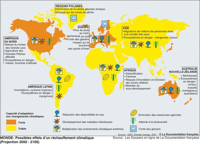 consequences planetaires du rechauffement climatique