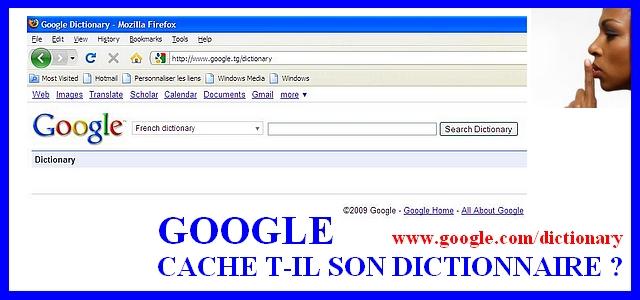 dictionnaire google