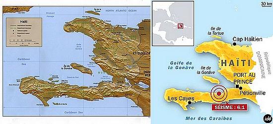 carte d'haiti