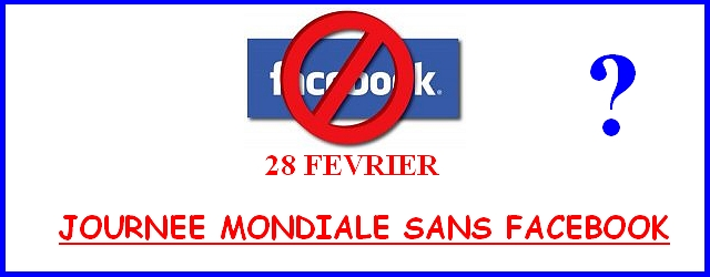 journee mondiale sans facebook