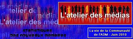 statistiques ADM juin 2010 nouveaux membres