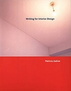 Cover design for Writing for Interior Design (Fairchild Books, 2005)