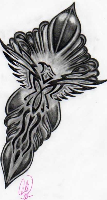 Tribal Eagle Tattoo