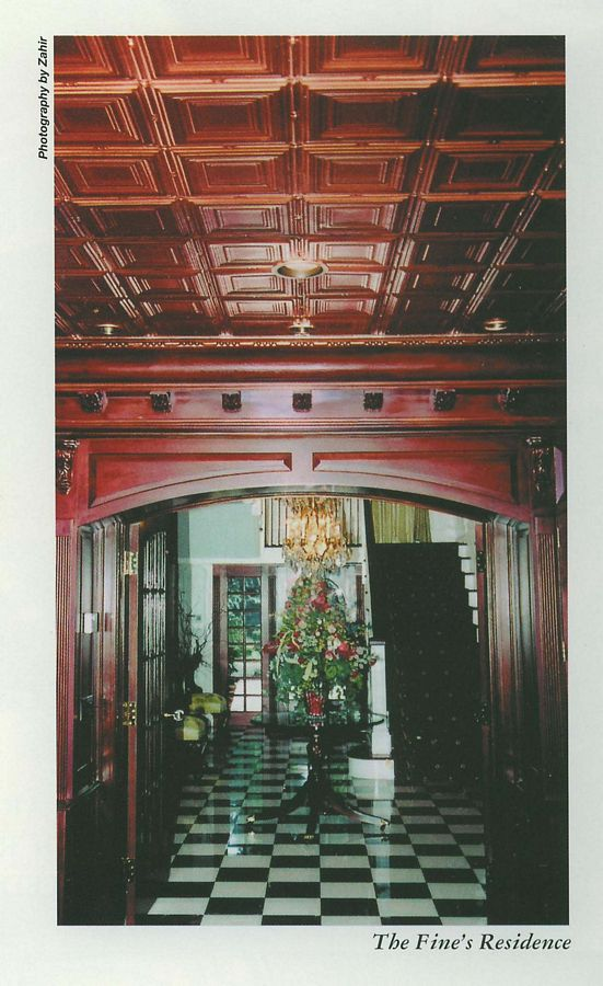 Tin Ceiling at Foyer