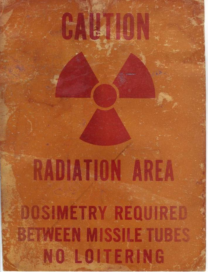 radiation - no loitering between missile tubes
