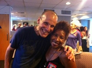 Russ Ferrante of The Yellowjackets & Tech Diva Zenobia at the Hollywood Bowl