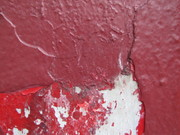 burgundy over red over white