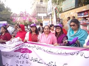 Rally on International women's day 2012,Arts Council to Karachi press club