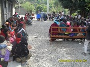 CDC Women asking for their rights with village committee
