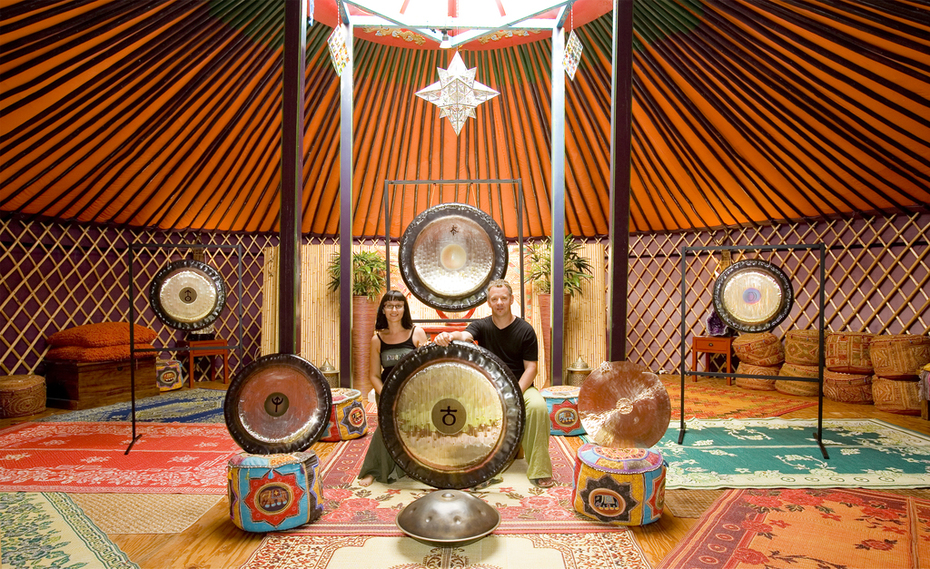Yurt Going Action - Temple Byron - Australia