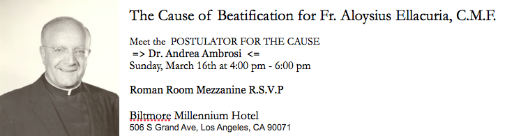 Invitation for Reception at the Biltmore for Postulator