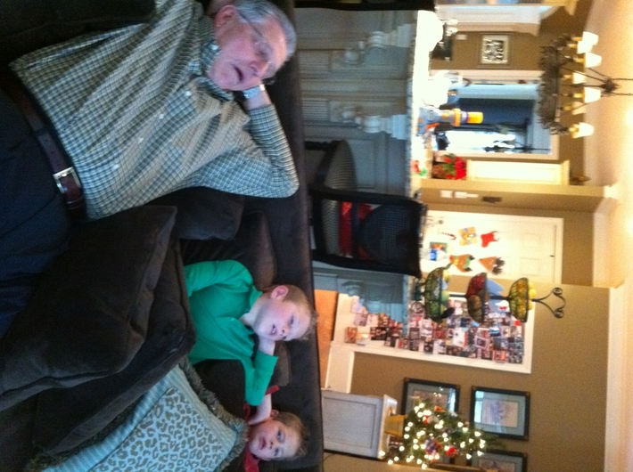 Like Granddad...like grandsons Christmas 2010