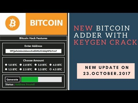 Bitcoin Adder 2017 WITH KEYGEN CRACK 07.Nov.2017 | 100% Working, No Scam