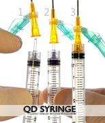 How to Luer the QD Hub and Needle onto the QD Syringe