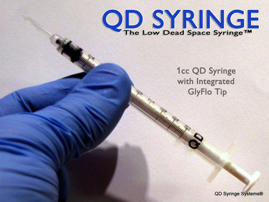 QD Syringe - 1cc QD Syringe with Integrated GlyFloTip