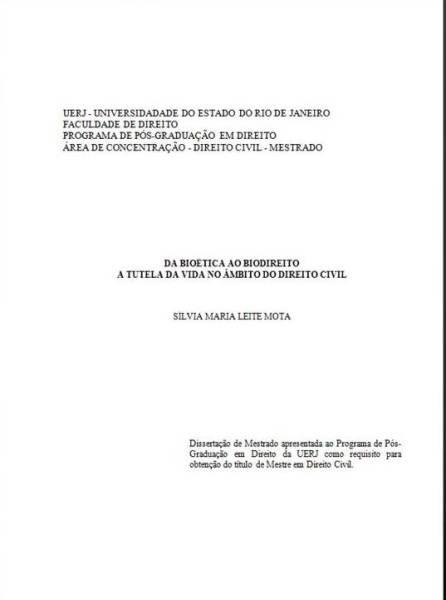 Da Bioética ao Biodireito: a tutela da vida no âmbito do Direito Civil