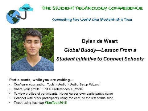 """Dylan de Waart on """"Global Buddy—Lesson From a Student Initiative to Connect Schools"""""""