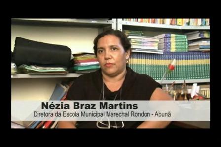 Nézia Braz Martins - Diretora da Escola Municipal Marechal Rondon - Abunã