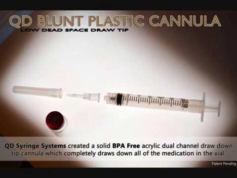 Blunt Plastic Cannula | QD BPA FREE Low Residual Volume Cannula