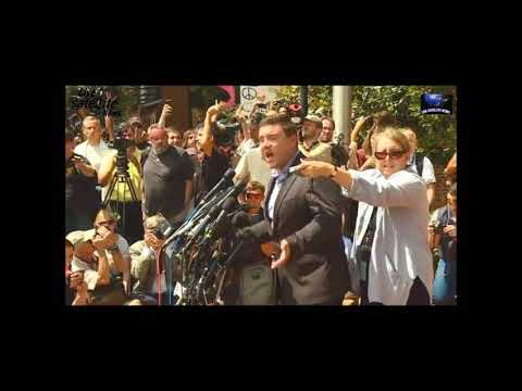 Jason Kessler is mobbed by violent (((terrorists))) from BLM and ANTIFA.