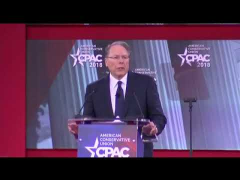 NRA Executive Vice President Wayne LaPierre addresses CPAC 2018. | Thursday, 22 February 2018