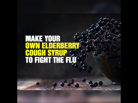 Make your own elderberry cough syrup to fight the flu